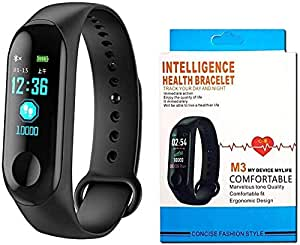 DWC Smart Fitness Band M3 with Heart Rate Monitor;Waterproof;Colorful Display;USB Charging;Call & MSG