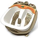 FUFU Foot Massagers Baigne de pied Accueil massage automatique de pied de massage Balai de chauffage Bassin de pieds électrique Barils profonds de bain de pied (blanc ivoire) (268 * 468 * 368mm) Avec fonction chaleur