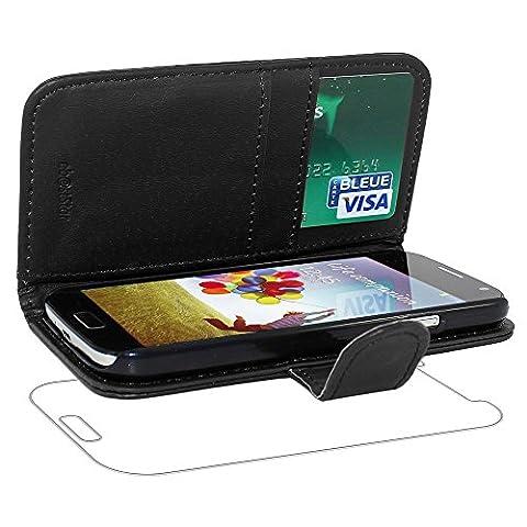 ebestStar - pour Samsung Galaxy S4 i9500 i9505 - Housse Coque Etui Portefeuille Support PU Cuir, Couleur Noir [Dimensions PRECISES de votre appareil : 136.6 x 69.8 x 7.9 mm, écran 5'']