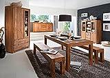 WHITNEY Mountain Couchtisch Wohnzimmertisch Tisch Massivholztisch Holztisch Sofatisch Beistelltisch Kaffeetisch sheesham gebeizt - 3