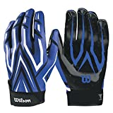 Wilson The Clutch Skill American Football Handschuhe - blau Gr. L