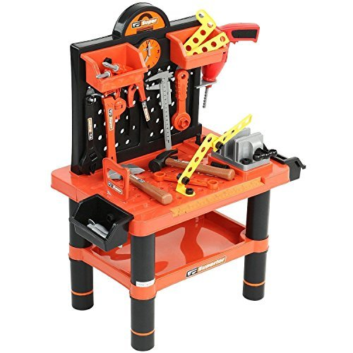 CHILDRENS 54PC TOOL BENCH PLAY SET WORK SHOP TOOLS...