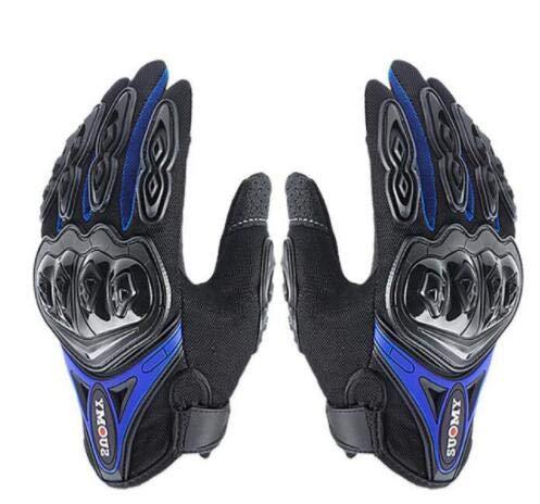 Bruce dillon guanti da moto da uomo guanti da moto invernali antivento impermeabili touch screen guanti da moto -blu xl