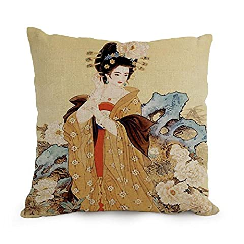 Elegancebeauty 18 X 18 Inches / 45 By 45 Cm Chinese Painting Pillowcase ,each Side Ornament And Gift To Home Office,gf,coffee