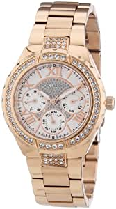 Guess Damen-Armbanduhr Analog Quarz Edelstahl W0111L3