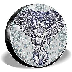 Dem Boswell Bohemian Elephant Paisley Flower Mandala Reserveradabdeckung Uv Sun Radabdeckungen Universal Fit und viele Fahrzeug