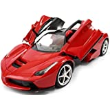 The Flyers Bay 1:16 Rechargeable Ferrari Style RC Car with Fully Function Doors, Red