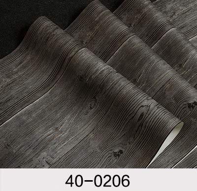 DUOCK Vintage Tapeten wasserdichtem PVC-Wallpaper 3D Holz Wallpaper Kontakt Papier 3D Wall panels Vinyl Wood Tapete Rollen für Wände, 400206, 53 CM X 10 M -