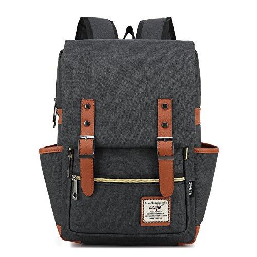 #028 Laptop Bag 15inch Casual Unisex Waterproof Oxford School Backpack Women&Men Rucksack (black) Casual Womens Oxford