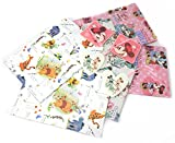 6 packs - 2x3 designs Disney character gift wrap paper sheets and tags
