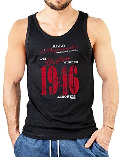Alle Lieblingsmenschen werden gleich geschaffen die Besten wurden 1946 geboren Herren Jahrgangs/Geburtstags-Top Schwarz