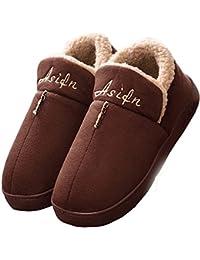 Lijeer Mujer Invierno biorelax Zapatillas de estar Por casa Andar nordikas Peluche Cerradas Pies calienta Pantuflas Abiertas Para termicas Zapatos Slippers Originales