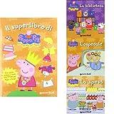 Selezione Peppa Pig: Il superlibro di Peppa Pig (con adesivi) + La biblioteca + L'ospedale + La spesa