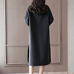 MO Autumn and Winter Double-Sided Woolen Coat in the Long Section of the Knee Fashionable Loose Jacket from MO