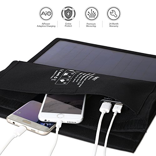 Pannello Solare Con Porta Usb : Aukey caricabatteria solare w con porte usb v a al