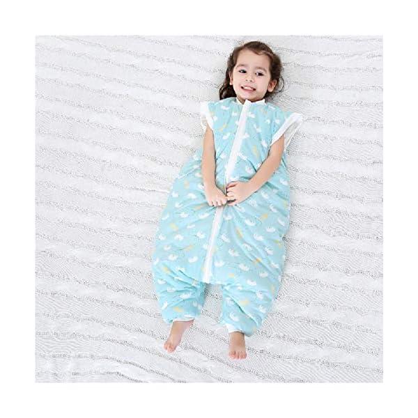 Saco de dormir con los pies,la pierna del bebé del saco de dormir,Grueso bebé anti-retroceso,del otoño y del invierno de los niños de una sola pieza pijamas con los zapatos,mangas desmontables,White-M