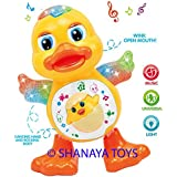 Shanaya Toys Dancing Duck With Music Flashing Lights And Real Dancing Action, Multi Color