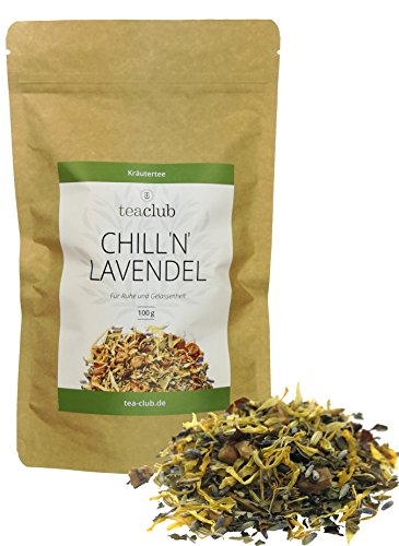 Lavendel Tee Mischung lose 100g/Abendtee-Kräutertee-Mischung mit Lavendel, Fenchel, Kümmel, Anis,...