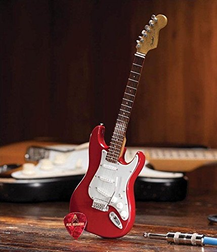 axe-heaven-fender-strat-classic-red-finish-miniature-guitar-replica