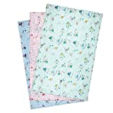 #3: Water Proof Bed Protector Nappy Changing Sheet for baby large (85 cm X 55 cm) (Pack of 3)