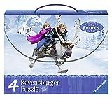 Ravensburger 07300 - Frozen Valigetta con 4 Puzzle