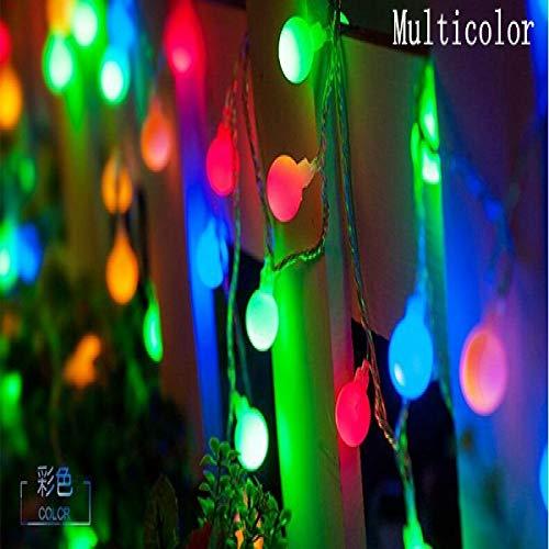 WSYYWD LED Ball Fairy Light String Hochzeit Weihnachtskranz Outdoor wasserdicht dekoratives Licht RGB 2M 20LEDS