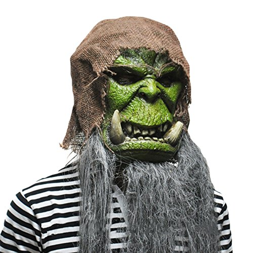 im Maske Gul'dan Warlock Maske Halloween Kopfbedeckung Requisiten World Of Warcraft,Gul'dan-OneSize ()