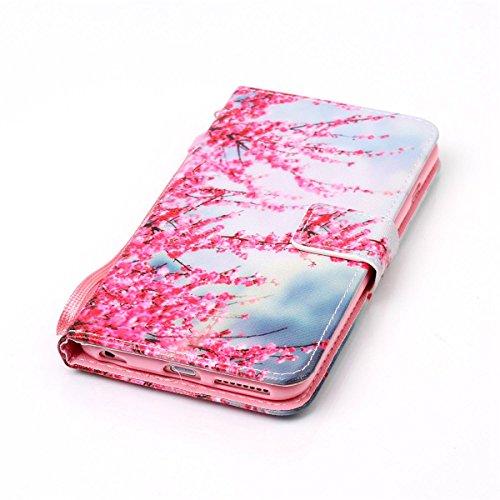 Coque iPhone 6s Plus, Étui en cuir pour iPhone 6 Plus, Lifetrut [Cash Slot] [Porte-cartes] Magnetic Flip Folio Wallet Case Couverture avec sangle pour iPhone 6s Plus / 6 Plus [Papillon] E208-Prune
