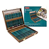 Derwent Artists- Boîte crayons de couleur Boîte en bois de 48