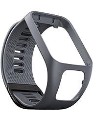TomTom Wechselarmband für TomTom Spark 3 / Spark / Runner 3 / Runner 2 GPS-Uhren, Grau, Größe L