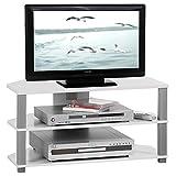 IDIMEX TV-Lowboard Rack Jack, in weiß und grau mit 2 offenen Fächern