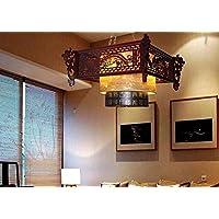 ZHGI Semplice legno massello tea corsia pendente di luce creativo lampada pergamena,65*65