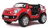 MINI Beachcomber Rojo, Los niños del coche, los niños del coche eléctrico, coche niños, 2x motor, batería de 12 V, con mando a distancia