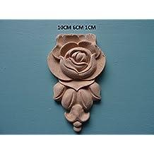 Decorative wooden rose drop applique onlay furniture moulding WK6