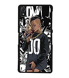 Fuson Premium 2D Back Case Cover dj With Brown Background Degined For Sony Xperia Z2::Sony Xperia Z2 L50W D6502 D6503