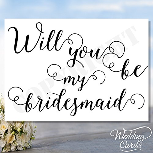 Will You Be My Bridesmaid Maid of Honour Geschenkschachtel Matron of Honour Witness Chief Laden Karte Postkarte Braut Bräutigam Hochzeit Flower -