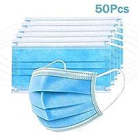 Lot de 50 filtres de protection buccale Dubaobao, 3 couches, protection respiratoire contre la pollution atmosphérique
