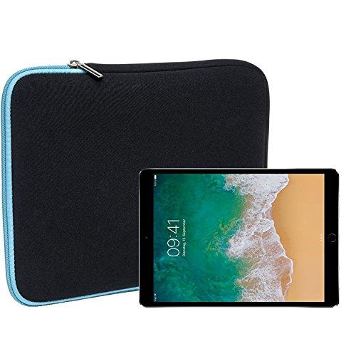 """Slabo Tablet Tasche Schutzhülle für iPad Pro 10,5\"""" (2017) Hülle Etui Case Phablet aus Neopren - TÜRKIS/SCHWARZ"""