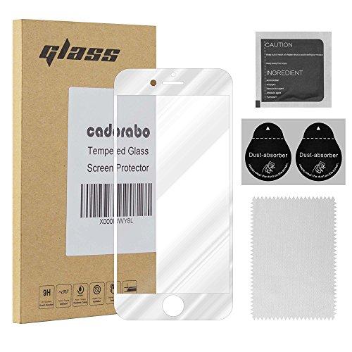 Preisvergleich Produktbild Cadorabo Vollbild Panzer Folie für Apple iPhone 8 Plus / 7 Plus / 7S Plus - Schutzfolie in TRANSPARENT mit Weiss – Gehärtetes (Tempered) Display-Schutzglas in 9H Härte mit 3D Touch Kompatibilität
