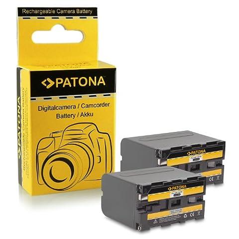 2x Batterie NP-F970 NPF970 pour Sony Camcorder Sony CCD-TR Series | CCD-TRV Series | Sony DCR-TR Series | Sony DCS-CD | Sony MVC-FD Series et bien plus