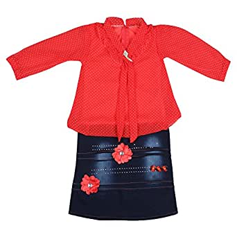 Arshia Fashions Girls' Dress (Gr00069_22_Red_2 - 3 Years)