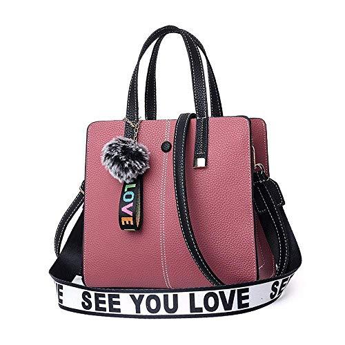 Damen Tasche 2018 Schulter Crossbody Tasche Komfortable Persönlichkeit Lady Vintage Tote (Halloween Tote Pink Lady)