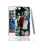 Harley Quinn Margot Robbie Suicide Squad iPhone 8 Plus Coque Super-vilain Superhero Fantasy Science Fiction film 7 Plus Housse le Joker Jared Leto DVD Movie Bande dessinée Super Hero Batman, plastique rigide
