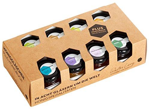 Honig Delikatessen Geschenkset Honig Spezialitäten von Walter Lang Honiggeschenkset 8 Stück Honig Gläser 320g