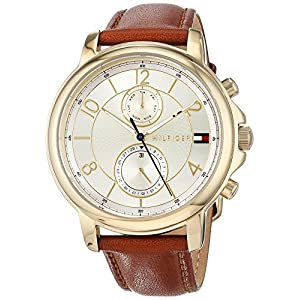 Tommy Hilfiger Womens Multi dial Quartz Watch with Leather Strap 1781818