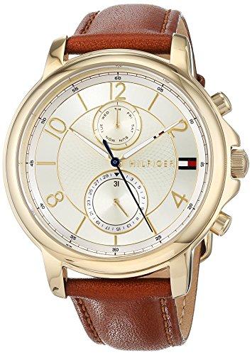 Tommy Hilfiger Damen Multi Zifferblatt Quarz Uhr mit Leder Armband 1781818 (Watch Frauen Von Tommy Hilfiger)