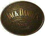 JACK DANIEL'S 'OLD BRASS' OVAL Offiziell Lizenzierte Gürtelschnalle + Präsentierständer