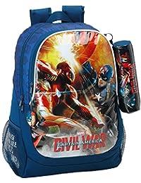 Safta 611609665 Day Pack Adaptable a Carro, Color Azul y Rojo