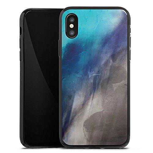 Apple iPhone X Silikon Hülle Case Schutzhülle Wasserfarbe Kunst Pinsel Silikon Case schwarz