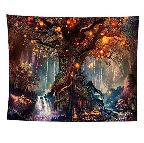 Wandteppiche,Life Tree,Tapiz De Tela Tela Manta Mandala,Decoración Del Dormitorio En EL Hogar,Alfombras De Exterior F 100X75Cm(39X30Inch)